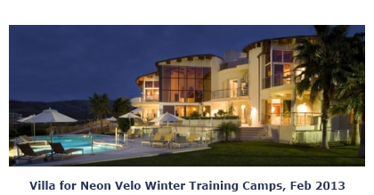 photo of Villa for Neon Velo Winter Training Camps, Feb 2013