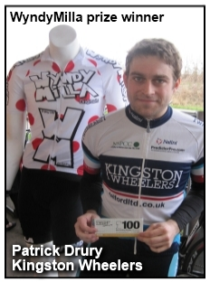 Patrick Drury (Kingston Wheelers CC) WyndyMilla prize winner