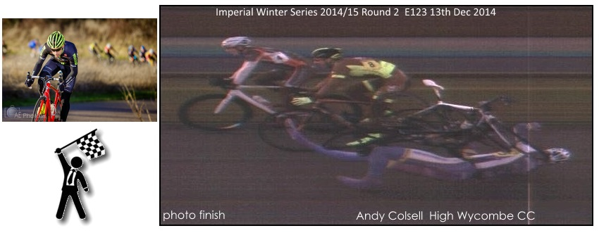 Imperial Winter Series Photo finish 2014/2015 Andy Colsell High Wycombe CC