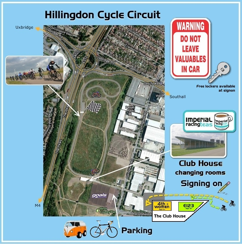 Hillingdon Race Circuit parking map